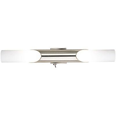 Wandleuchte Spiegelleuchte Metall Stahl Glas opal matt Breite 41cm mit EIN/AUS Schalter von depot8 auf Lampenhans.de