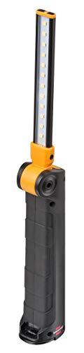 Brennenstuhl Akku LED Handleuchte SANSA 400 A/LED Werkstattlampe mit Akku und Magnet (Leuchtdauer max. 80h, auf Taschenformat einklappbar, inklusive USB-Ladekabel) schwarz