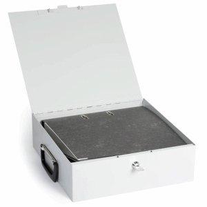 Inkiess Dokumenten-Kassette Dokufix Größe 2 BxTxH 37,0x32,5x11,5cm lichtgrau