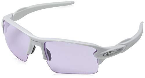 Oakley Herren Flak 2.0 XL 918888 59 Sonnenbrille, Weiß (Polished White/Prizmlowlight)