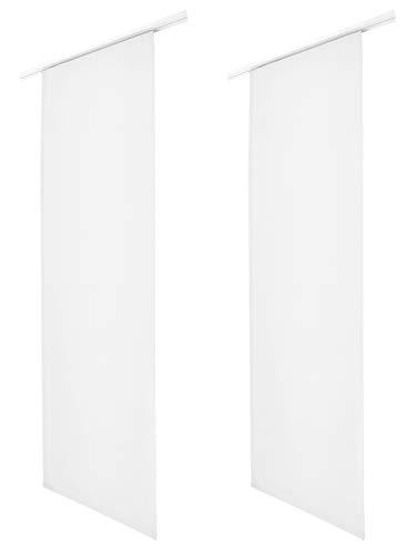 Schiebegardine Blickdicht Flächenvorhang Schiebevorhang Raumteiler Sichtschutz Weiss 2er Set