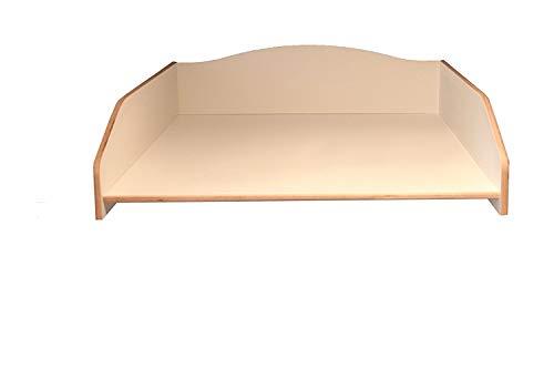 Wickeltischaufsatz weiß, Wickelfläche 60x70cm, Wickelauflage, Wickelkommode, Aufsatz für Waschmaschine oder Trockner, stabil und leicht (no shelf/keine Ablage, disassembled/zerlegt)