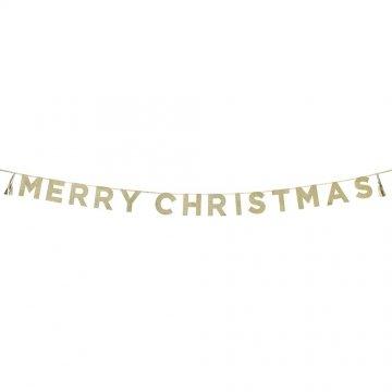 Talking Tables Sagen Sie es mit Glitzer 'Merry Christmas' Banner, Gold