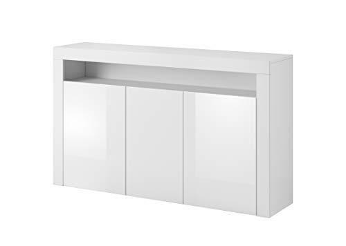 ECOM Luna Buffet Blanc 155 cm