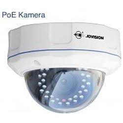 JVS-N5DL-DC-PoE / Jovision IP Dome Kamera, Power over Ethernet (PoE), Indoor und Outdoor, 2 MegaPixel, Full HD, 1080P, Überwachungskamera, Netzwerkkamera, Bewegungserkennung, Email Alarm, Spritzwasser und staubgeschützt (IP66), Schutz vor Vandalismus, Objektiv Richtung manuell verstellbar