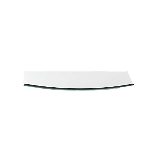 Funkenschutzplatte G30 Segmentbogen ESG 6mm x 500mm x 1000mm mit 18mm Facette Glasplatte Bodenplatte Kaminplatte Funkenschutz Ofenplatte Kaminglas