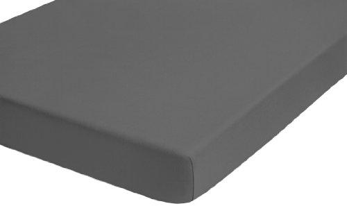 biberna 77641/131/322 Jersey-Elastic Topper Spannbetttuch, ca. 180 x 200 cm bis 200 x 220 cm, nach Öko-Tex Standard 100 - geeignet für Matratzenhöhen von 8 cm bis 10 cm, Farbe: Titanium