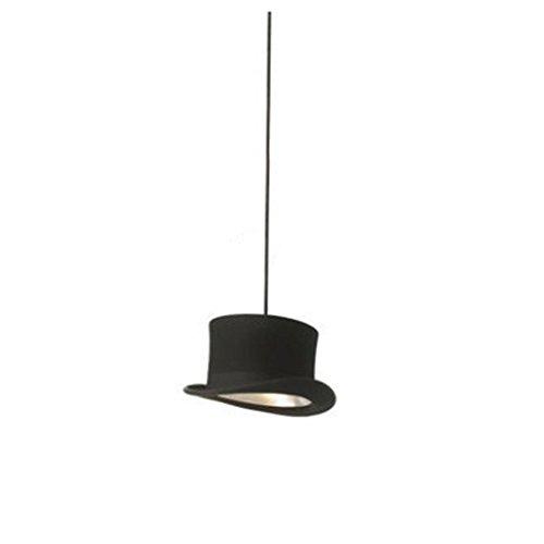 HAIYING Pendelleuchte, Northern Europe Vintage Industrie Hut Form Schwarz Metall Pendelleuchten Esszimmer Wohnzimmer Küche Leuchte ( Farbe : A )