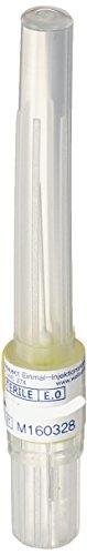 wellsaject sterile Einmal-Injektionskanülen Einmalkanülen, 100 Stück, 27G / kurz / 0,41 x 21 mm / Gelb