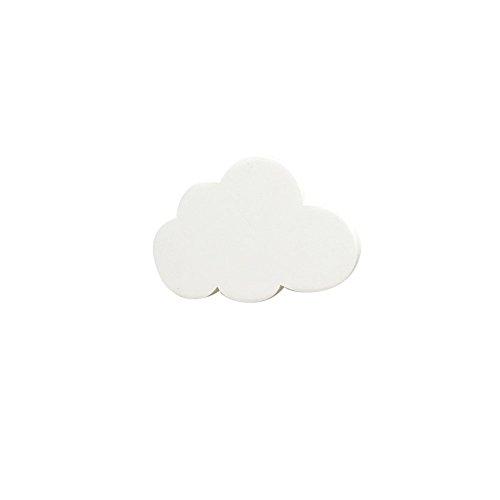Xuxuou Estante Gancho Forma Nube Gancho Madera,Blanco,De