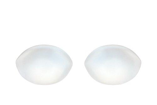 SODACODA - 150g / par - Insertos de silicona de forma ovalada - Reforzador de senos para sujetadores, trajes de baño, bikini - para copas A, B, C y D - Transparente