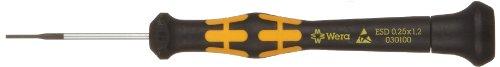 Wera 1578 A ESD Kraftform Micro Schlitz-Schraubendreher, 0,25 x 1,2 x 40 mm, 1 Stück, 05030100001