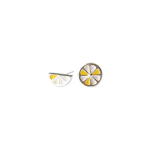 Harye Mujer Pendientes Tornillos de oreja chica Retro retro minimalista geométrico de la perla en forma de abanico en las orejas orejas split (BBDD)