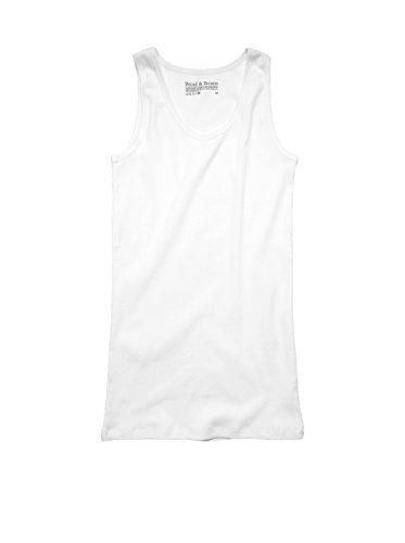 Bread & Boxers Damen Ärmelloses Ripptop White Weiss S (Damen-gerippte Unterhemden)