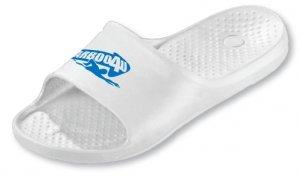 Carboo4U Badepantoletten, marine ergonomisches Fußbett, chlorresistent, tolle Passform, Badelatschen, Badeslipper, Badeschuhe Weiß