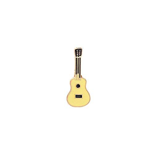 Adisaer Damen Karikatur Brosche Emaille Gitarre Broschen Gelb Schwarz Mädchen 1 Stück (Kostüme Ufc)