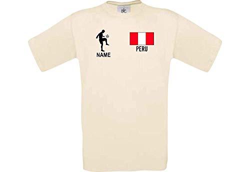Shirtstown Camiseta Hombres Camiseta Fútbol Perú