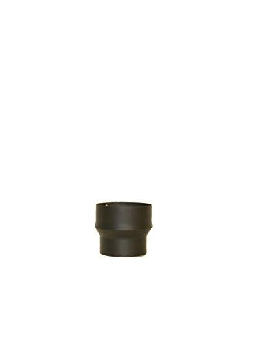 LANZZAS Rauchrohr Ofenrohr Erweiterung Farbe schwarz 120/130 120/150 130/150 150/160 150/180 150/200 160/180 180/200 (Ø 150 mm auf Ø 200 mm)