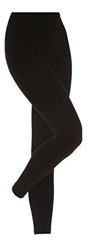 Medias térmicas extra mujer 0.52tog L- cintura 122cm/Negro
