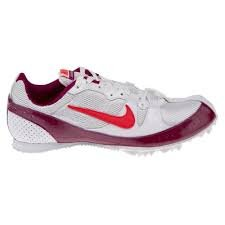 Nike Zoom Rival Md Mid Distance piste de Spike Sport Entraîneur Chaussures WHITE/RED PLUM/SOLAR RED