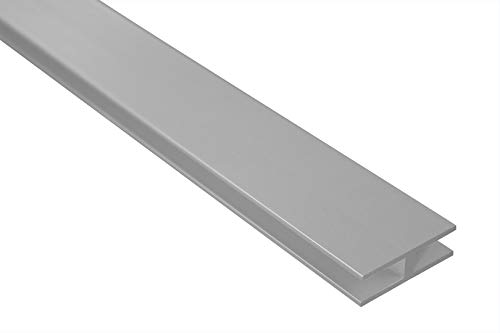 2 Meter   H-Profil   Alu   eloxiert   40x12mm   Effector   B91   silber