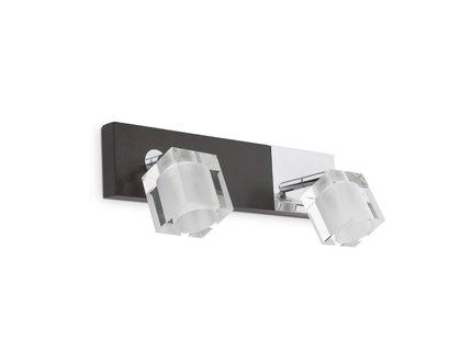 faro-40939-alamo-lampada-da-parete-2-luci-in-legno-wenge-metallo-cromato-e-vetro-traslucido