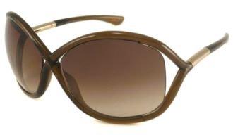 Tom Ford Für Frau 0009 Whitney Transparent Dark Brown, Rose Gold Details / Brown Gradient Kunststoffgestell Sonnenbrillen