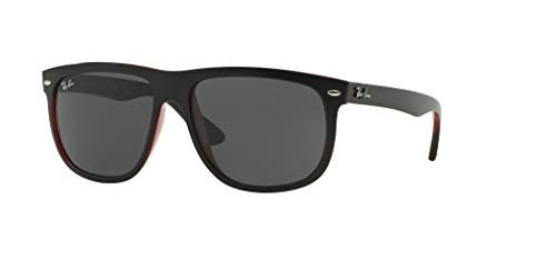 Ray-Ban RB4147 617187 60M Top Matte Black On Red Transparent/Dark Grey Sunglasses