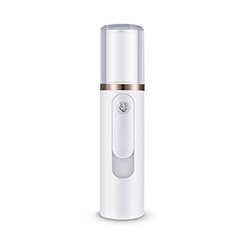 Beauty dampfendes Gesicht | feuchtigkeitsspendendes Instrument Luftbefeuchter | tragbares Beauty dampfendes Gesicht | mit aufladendem Schatz negativem Ion, weiß