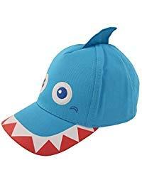 ABG Accessories Jungs Baumwolle Baseball Cap mit sortierten Tiere Critter Design Kleinkind-Jungen Alter 2-4 Shark-Design â €