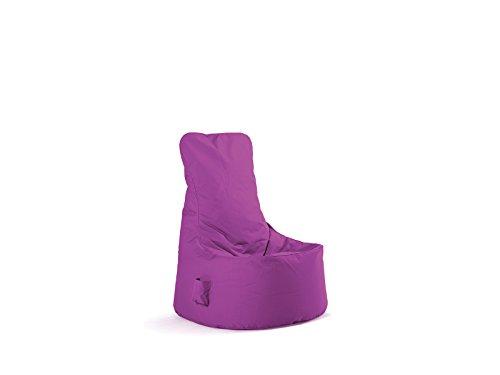 Sitting Bull Sitzsack für Kinderzimmer/Erwachsene oder Wohnzimmer 100{270f5e272ef19fa7549f27fba097e8677d36d7ee853a7c3138a1a19443715b9b} Polyester Sitzsack Chill Seat violett–Form Sitz Maße 85x 75x 100cm Moderne Komfortables und hochwertiges