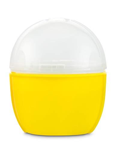 Eierkocher Mikrowelle in Gelb | Crackin Egg Mikrowellen Eierkocher | Ideal zum Eierkochen und als Omelettmaker | 100% BPA Frei