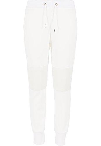 Urban Classics - Jogginghose Scuba Mesh Jogging Pants, Pantaloni sportivi Donna, Bianco (Offwhite), Medium (Taglia Produttore: Medium)