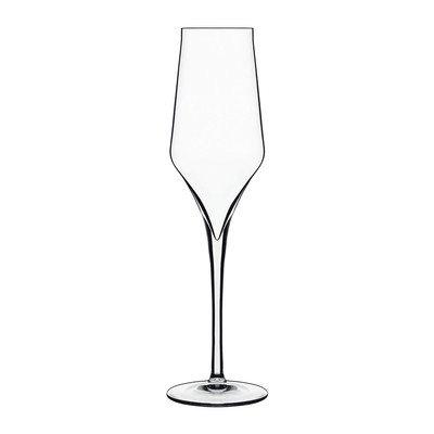 Luigi Bormioli 7540461 Boîte de 6 Flûtes Cristal, Transparent, 6,4x6,4x25 cm