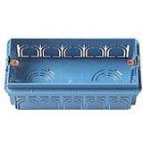 Vimar - Caja empotrable rectangular 5 módulo azul