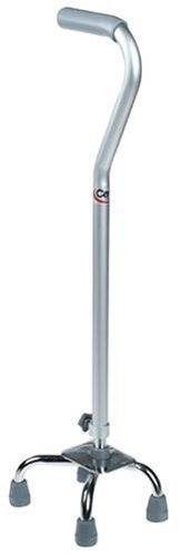 Carex Quad Cane with Offset Handle, Small Base by Carex Health Brands