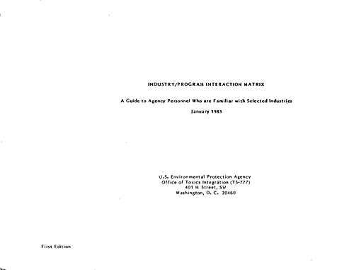 Industrial Pollution Prevention Project (IP3) : Summary Report (English Edition)