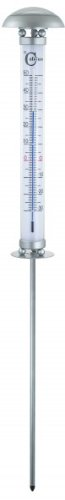 Solar-Thermometer Thermostat Gartendekoration Solarleuchte Temperaturmesser LED BT-T004