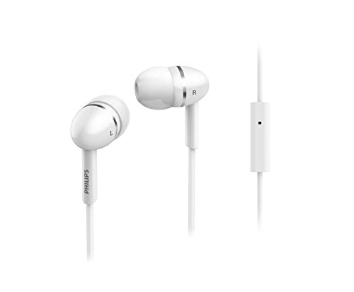 Philips SHE1455WT In-Ear Headphones with Mic (White)