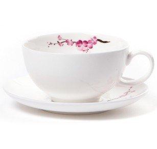 Shamila® Teetasse Cherry Blossom 0,2l Bone China Blossom Bone China