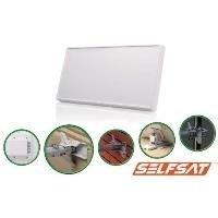 Selfsat H21DQ+ Flach Antenne mit austauschbarem Quattro LNB, für Multischalter