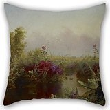 The Oil Painting Jerome B. Thompson - Duck Hunting Throw Pillow Case Of ,20 X 20 Inches / 50 By 50 Cm Decoration,gift For Pub,festival,car Seat,floor,lounge,boy Friend (each
