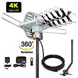 2019 Version HDTV Antenna Amplified Digital Outdoor Antenna -150 Miles Range-360 Degree Rotation