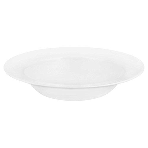 Corelle Pasta-Teller Winter Frost mit breitem Rand aus Vitrelle-Glas 828ml, weiß (Correlle Weiß Teller)