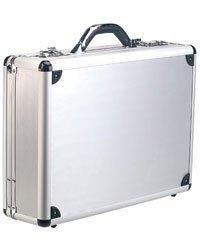 Valise pour portable en aluminium