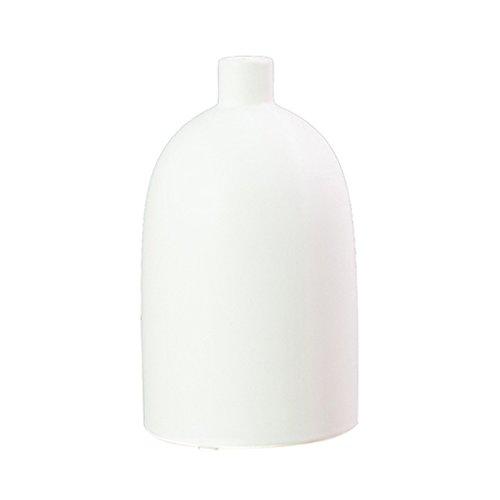 Sharplace Moderne Deko Vase Blumenvase aus Keramik, Nordische Tischvase - Weiß L