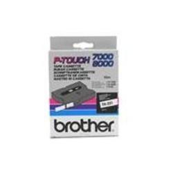 Brother TX232 Schriftbandkassette weiß auf rot 12mm x 15m laminiert für P-touch series -