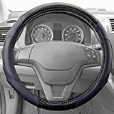 Motor Trend GripDrive Carbon Fiber Series - Steering Wheel Cover - Synthetic Leather