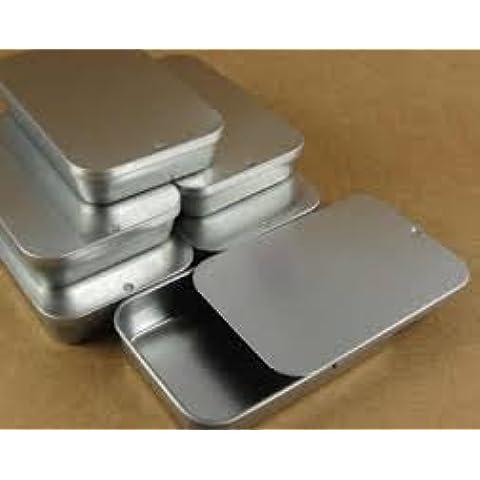 5 cajasx plateadoas en blanco tapa caja de almacenaje Micro Slide, Bushcraft, Kits de supervivencia, DE