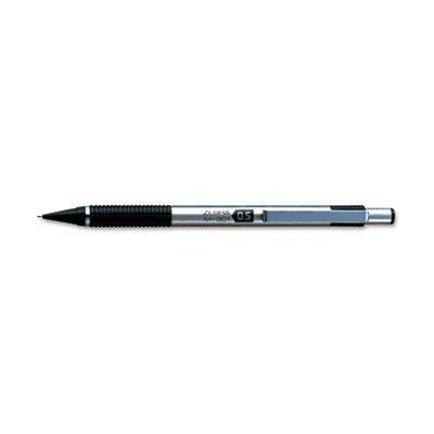 M-301 Mechanical Pencil 0.50 mm Stainless Steel w/ Black Accents Barrel by Zebra Technologies (Zebra Druckbleistift 301)